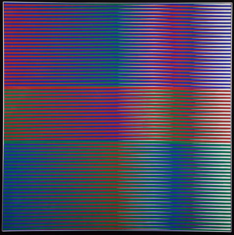 Carlos Cruz-Diez<br/><em>Couleur Additive</em>, 1974